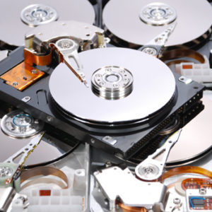 pieces of hard drives for secure data destruction