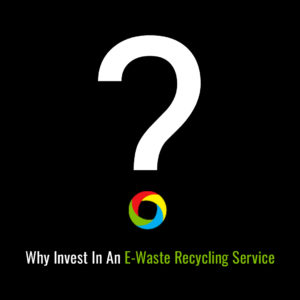 RAKI Electronics Recycling infographic about e-waste recycling services