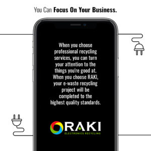 RAKI Electronics Recycling infographic for e-waste recycling
